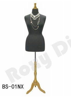 (JF-F14/16BK+BS-01NX) Size 14-16 Black Female Dress Form Mannequin Plus Size 42