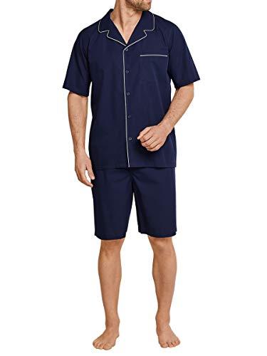 Seidensticker Herren Zweiteiliger Schlafanzug Pyjama Kurz, Blau (Nachtblau 804), XXXX-Large (Herstellergröße: 60)