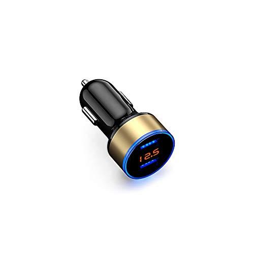 No brand LED-display voor auto sigarettenaansteker USB 12 V 24 V oplader voor auto stopcontact splitter telefoon opladen elektronische accessoires Universal
