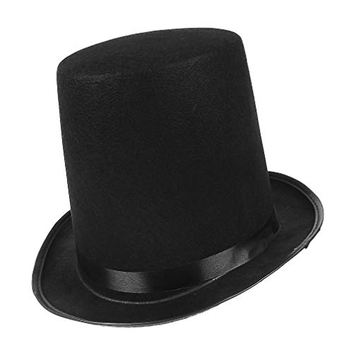 EOZY Herren Zylinder Hut Hoch Partyhut Karneval Fasching Chapeau Zylinderhut Kopfbedeckung Schwarz
