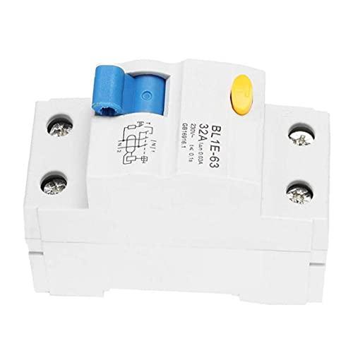 Interruptor de corriente Dispositivo de protección diferencial de corriente residual actual disyuntor bipolar 32A 230V