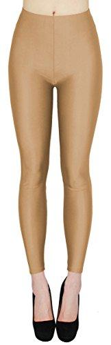 dy_mode Glanz Leggings Damen Bunte Tanz Leggings glänzende Leggins Shiny One Size - JL116 (One Size - geeignet für Gr.36-38,...