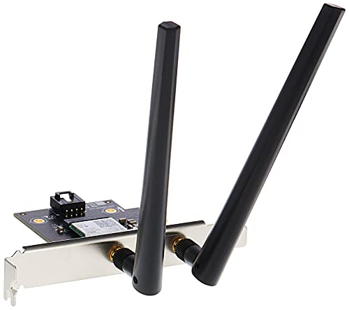 Asus PCE-AX3000 PCIe-Karte (Bluetooth 5.0 + Wi-Fi 6 AX3000 Dual-Band, 2x Antennen, DFS)