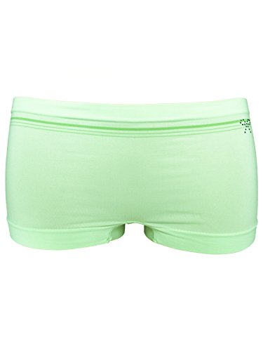 SENSI' Shorty Femme Taille Basse Strass Gousset en Coton Microfibre Perspirante sans Coutures Seamless Made in Italy