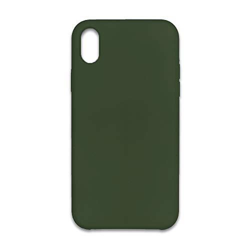 Capa Case Silicone interior Aveludado para iPhone XR Verde Militar 40