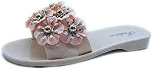Outdoor wear New Flat-Bottomed Camellia Flower Crystal Shoes