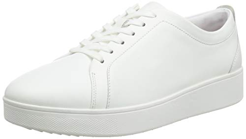 FitFlop Women's R29 Rally Leather Trainers Sneaker, Urban White - 8.5