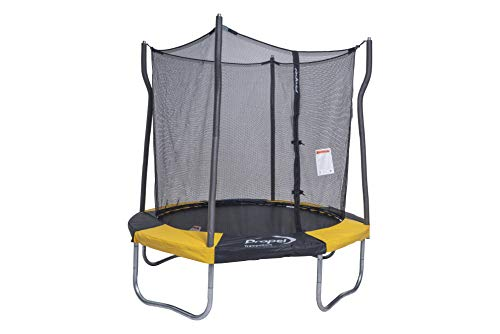 Propel Trampolines 7 Foot Trampoline with Enclosure & Basketball Hoop, Yellow/Black (P7-20YNB)