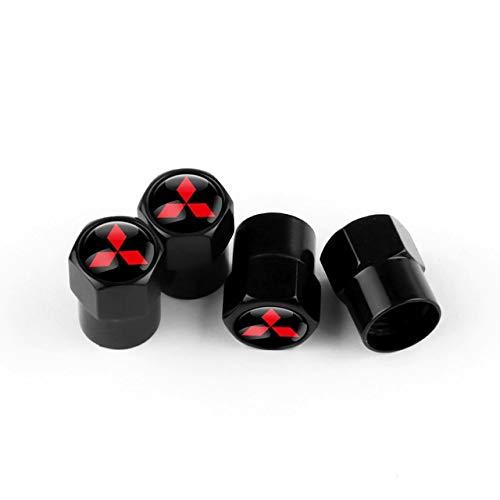 FUNRE 4PCS automático de válvula del neumático de la Rueda Casquillos del vástago de la Cubierta for Mitsubishi Lancer Outlander ASX Pajero L200 Galant Coche Accesorios de la decoración