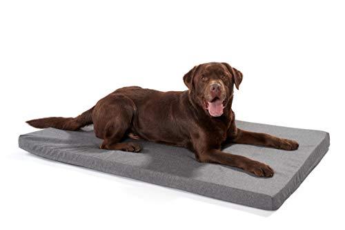 Woofery - Hundematte Akela - orthopädisch wasserfest XXL 120 x 80 cm Anthrazit