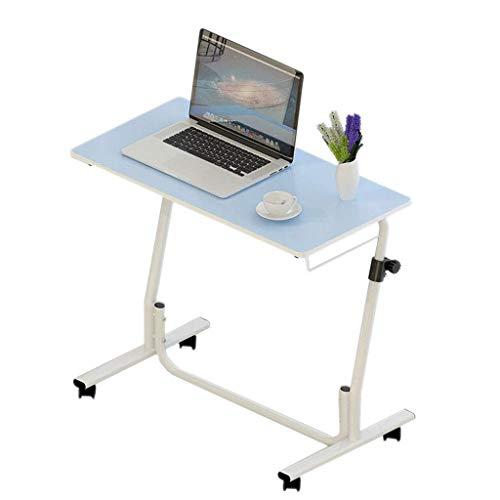 WXJWPZ Lazy - Mesa para ordenador portátil con altura ajustable para elevar sofás, mesilla de noche, para casa, café, lectura, escritorios pequeños (color: azul)