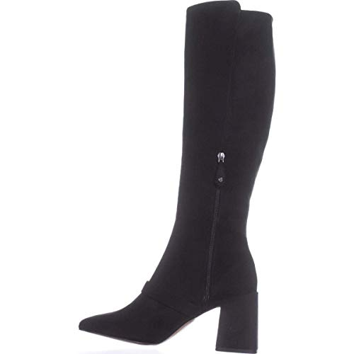 BCBGeneration Womens Bella Suede Closed Toe Mid-Calf, Black Microsuede, Size 9.0