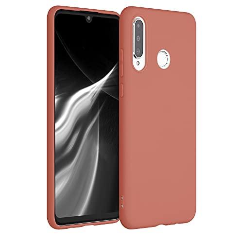 kwmobile Funda Compatible con Huawei P30 Lite - Funda Carcasa de TPU Silicona - Protector Trasero en Rosa melocotón