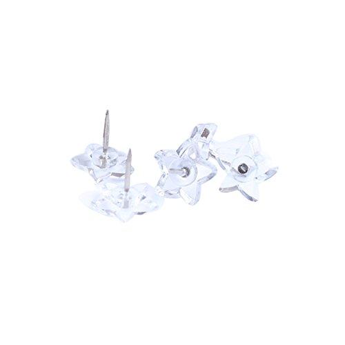 Cute Creative Star Shape Heart Shape Pushpins Drawing Pins Thumbtacks 50PCS Transparent Star