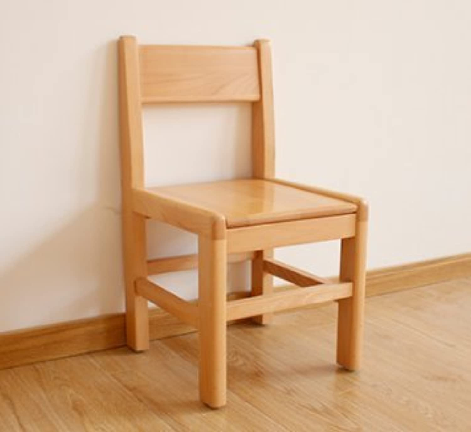 Low Stool Dressing Stool Solid Wood Modern Furniture Simple Change shoes Stool Home Oak Bench (Size   L)