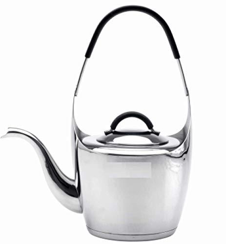 MLOZS Tetera de Acero Inoxidable Pulido Acero Inoxidable 1 litro Fondo Inferiores Tetera de Tetera de inducción Tetera de té con Silbato de Filtro 1000ml