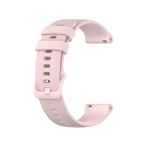 Yeejok 18mm Silicone Bands Compatible for Fossil Women's Gen 5E 42mm /Gen 4 Q Venture HR/Women's Gen 3 Venture Smartwatch, Replacement Quick Released Sport Fitness Watch Strap, Rose Pink