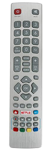 ALLIMITY SHW/RMC/0115 Fernbedienung Ersetzt für Sharp Aquos UHD 4K Freeview TV LC-40UI7352E LC-43CFG6002E LC-49CFG6001K LC-50UI7422E LC-40UI7552K LC-43CFG6001K LC-43FG5242E LC-49CFG6001E