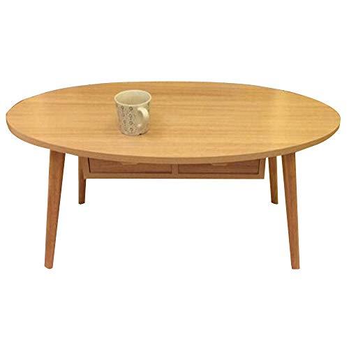 HAIZHEN Tables basses Grande table d'appoint, table basse de pied en bois massif avec table de rangement à 2 tiroirs pour salon, bureau et bureau (Couleur : B)