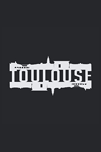 TOULOUSE: Address Book and Password Keeper Address Book Alphabetical Tabs (6x9 inches) with 120 pages in the Toulouse France City Cityscape Design