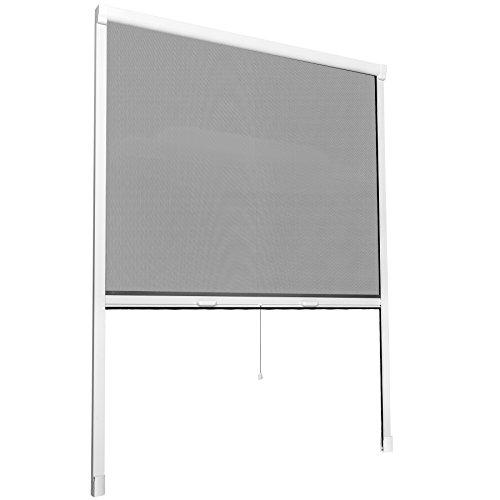 TecTake Insektenschutzrollo Fliegengitter Rollo Aluminium - diverse Größen - (90x160cm | Nr. 402063)