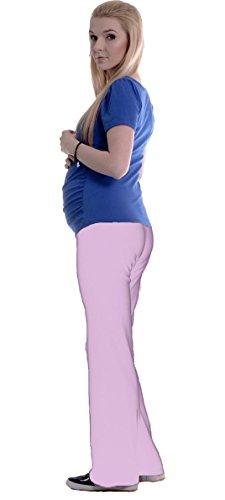 12babyline Umstandsjogginghose Haushose Jogahose für Schwangere… (XXL / 44, rosa)