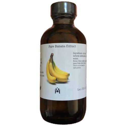 OliveNation Banana Extract - Premium - 4 oz - Gluten-free, No sugar added - Premium Quality Flavoring Extract For Baking