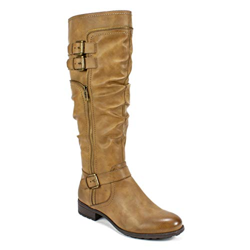 WHITE MOUNTAIN Shoes Ranger Women's Boot, MID Brown/Burnished Smooth, 10 M