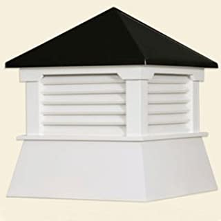 """30"""" Vinyl Shed Cupola with Black Aluminum Roof"""