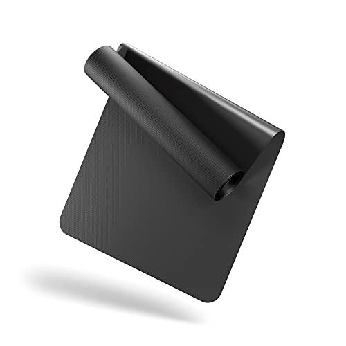 LILENO SPORTS Bodenschutzmatte [90x200 cm] Schwarz - Laufband Matte 1 mm Dicke - Fitness Unterlegmatte für Crosstrainer, Rollentrainer und andere Fitnessgeräte - auch als Yoga Matte
