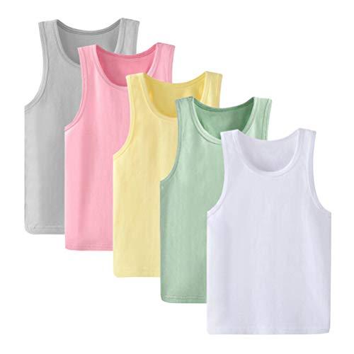 Kidear - Pack de camisetas interiores de tirantes hechas con algodón suave...