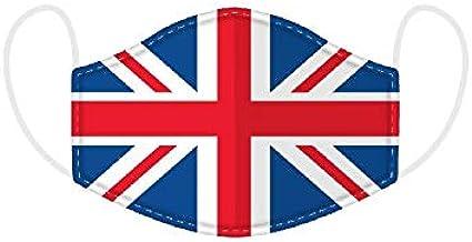 Puckator Wielokrotnego użytku maski zakrywające twarz oddychające Union Jack