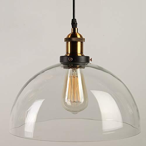 Preisvergleich Produktbild Lightsjoy Vintage Lampen Industrie Hängeleuchte Vintage Glas Pendelleuchte Industrial Hängelampe Retro Deckenleuchte Hängend E27 für Wohnzimmer Schlafzimmer Küche Esszimmer Esstisch usw.