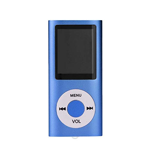 3nh Pack of 1 LCD Screen Display Music Media Player MP4 with FM Radio (Color: Blue, Material: Aluminum)