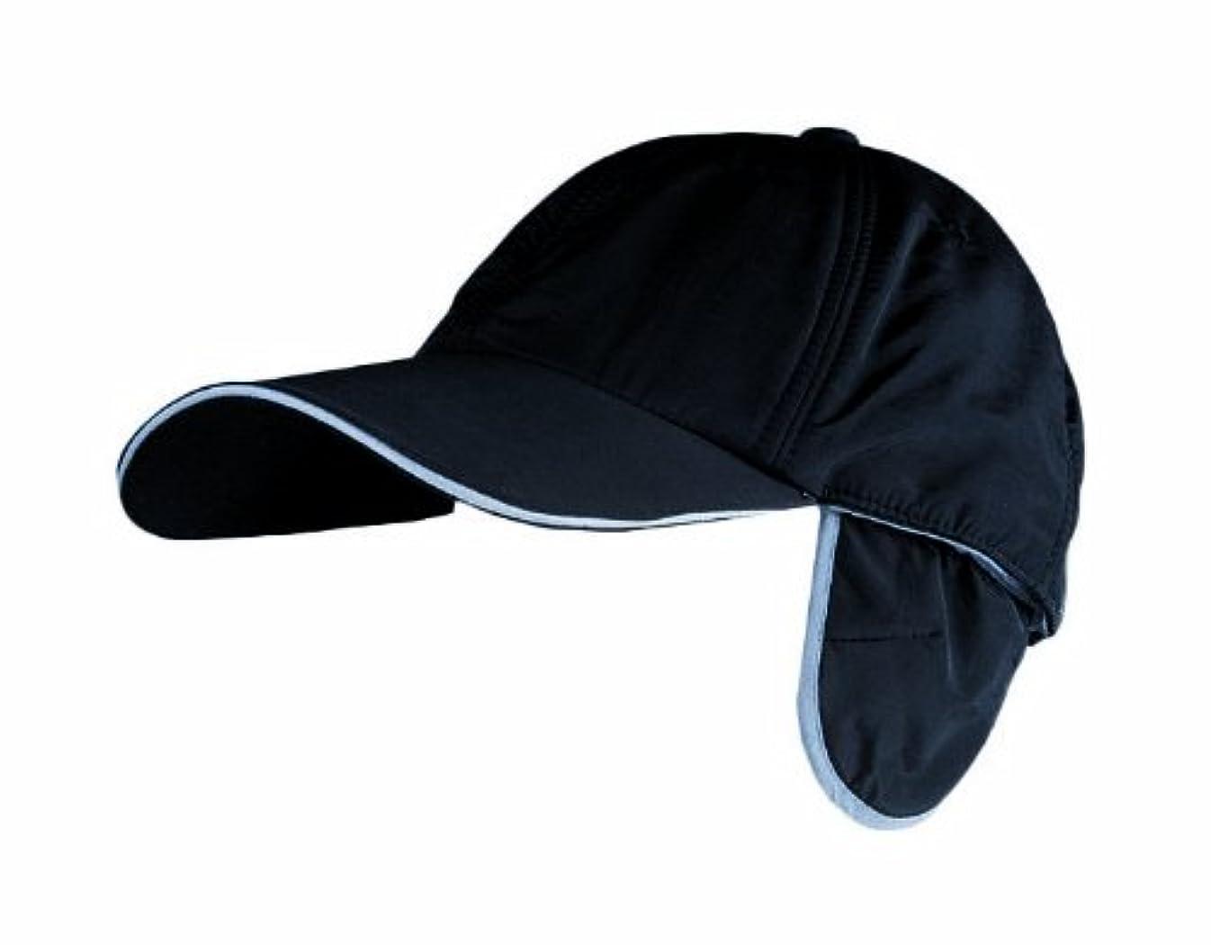 川西工業 ナイロン防寒キャップ耳付 ブラック フリー 7001