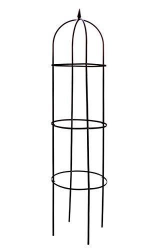 Spetebo Metall Rankhilfe 200 x 40 cm - Rosensäule Rosenbogen Rankgitter Rank Obelisk Rosengestell Rankturm