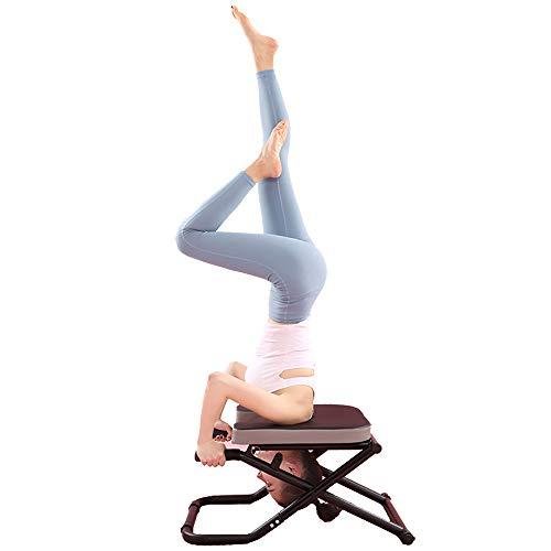 LLC-POWER Yoga Headstand Bench, Multifunctional Foldable Yoga Inversion Chair,Yoga...