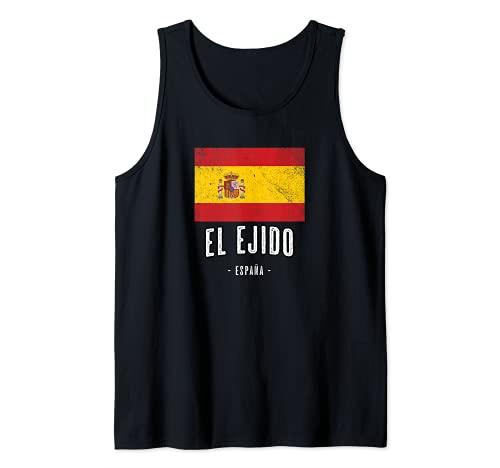 El Ejido España   Souvenir Linda Ciudad - Bandera Española - Camiseta sin Mangas