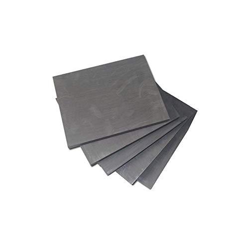 Hzonder 99,99% reines Graphitelektroden Blatt Batterie-Platten-Elektrolysen, Kupfer, Alumium Metal Casting,100mm×50mm×3mm
