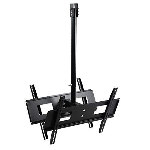 Universele 30-65 Inch Dubbelzijdige Tweezijdige Beugel TV Hanger, Plafond Beugel 360 graden Rotatie, Telescopische Wandmontage Plank Kantelen Roterende TV Plafond Beugel Intrekbare Installatie 30-65