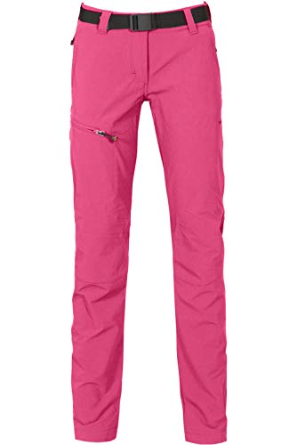 Bergson Damen Funktionshose MENA (Slim fit) - Wanderhose, Radhose, Outdoorhose -, Fandango pink [185], 42 - Damen