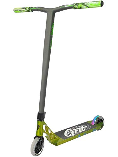 Grit Invader komplett Pro Stunt-Roller, Polished Green/Satin Grey, Deck: 4.8