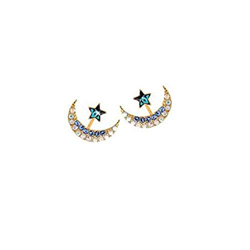 Ms. Moon Star Rhinestone Ohrringe, 1 Paar
