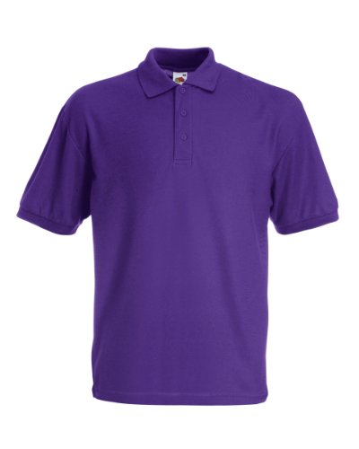Fruit of the Loom SS033M, Polo Homme, Violet-Violet, Grand
