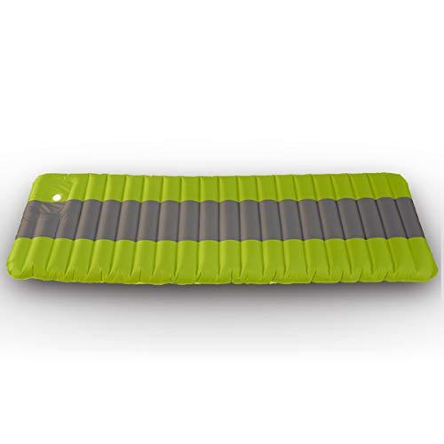 エアーマット 足踏み式 車中泊マット コンパクト 簡単収納 携帯便利 190×64cm エアーベッド アウトドアマット (グリーン)