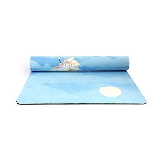 MH-RING Esterilla Yoga, Esterilla Deporte Antideslizante con Material ecológico TPE, Yoga Mat diseñado para Entrenamiento físico con Correa de Transporte y Bolsa (Color : Multi-Colored)