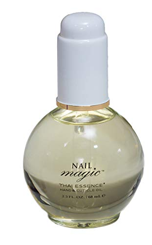 Nail Magic Nail Cuticle Oil, Thai Essence, Organic, Lemongrass and Lavender Essential Oils, Assists with Peeling Fingernails, Reduces cracking cuticles, 2.3 fluid ounce