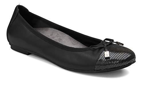 Vionic Women's, Spark Minna Ballet Flat Black 5 M