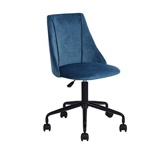 DKee Homy Casa Silla Inicio del Escritorio de Oficina Silla de la computadora Estudiante Silla giratoria Silla Estudio de Ajuste hieght (Azul) (Color : Blue)