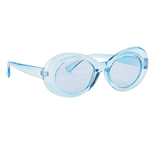 dailymall Gafas de Sol Semitransparentes de Kurt Cobain para Mujer - Azul, como se describe